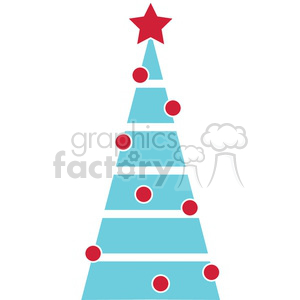 decorated Christmas tree design clipart. Commercial use image # 383735