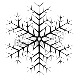 black vector snowflake clipart. Commercial use image # 383740