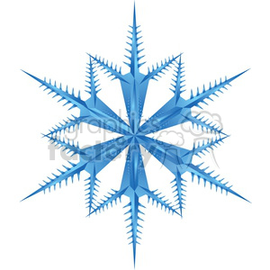 unique vector snowflake clipart. Royalty-free image # 383745