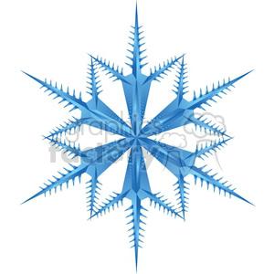 unique vector snowflake