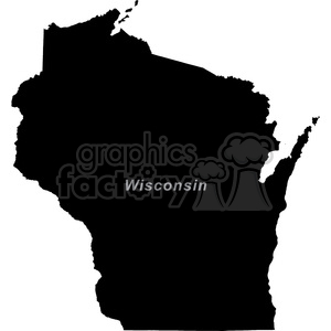 WI-Wisconsin clipart. Royalty-free image # 383790