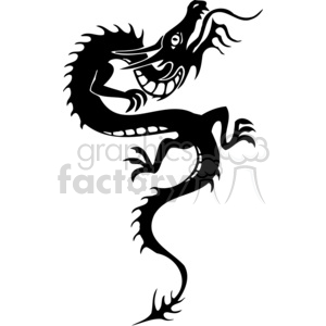chinese dragons 049 clipart. Commercial use image # 383849