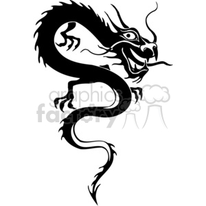 chinese dragons 008 clipart. Commercial use image # 383859