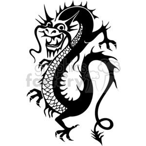 chinese dragons 004 clipart. Royalty-free image # 383874