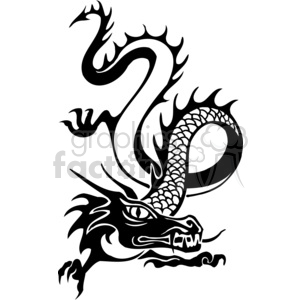 chinese dragons 020 clipart. Royalty-free image # 383894