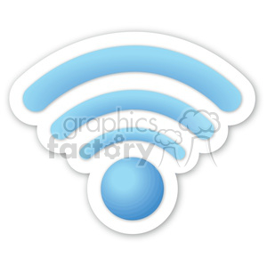 blue wireless signal clipart. Royalty-free image # 383902