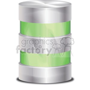 green database icon clipart. Royalty-free image # 383912