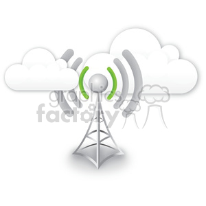 cell tower with a bad signal clipart. Commercial use image # 383922