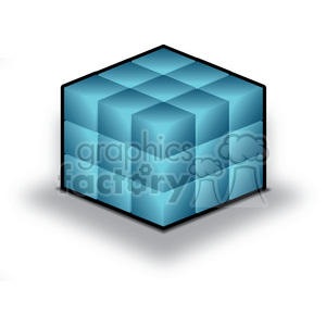 database-cube clipart. Royalty-free image # 383932