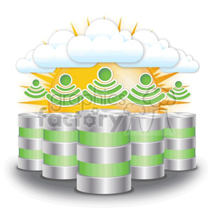 cloud server farm clipart. Royalty-free image # 383942