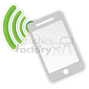 cell phone data transfers clipart. Royalty-free image # 383957