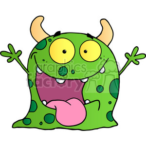 2483-Happy-Monster-Cartoon-Character clipart. Royalty-free image # 383982