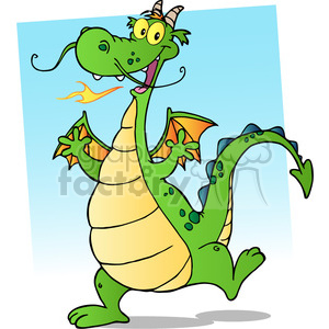 2298-Happy-Dragon-Cartoon-Character clipart. Royalty-free image # 383992