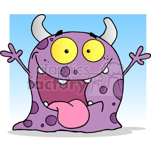 Royalty-Free 2486-Happy-Monster-Cartoon-Character 384027 vector ...