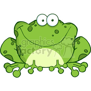 102491-Cartoon-Clipart-Happy-Frog-Cartoon-Character clipart. Commercial use image # 384067