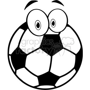 102547-Cartoon-Clipart-Soccer-Ball-Cartoon-Character clipart. Commercial use image # 384092