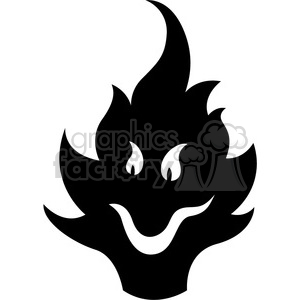 cartoon flame character clipart. Royalty-free image # 384097