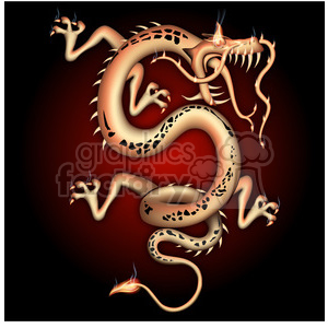 Chinese dragon wit ha red glow clipart. Commercial use image # 384102