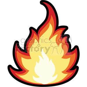 cartoon fire clipart. Commercial use image # 384107