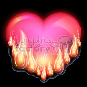 burning heart clipart. Commercial use image # 384127