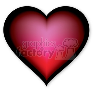 red glowing heart clipart. Commercial use image # 384141