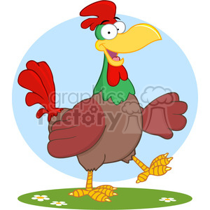 cartoon-chicken clipart. Commercial use image # 384192