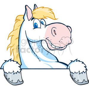 white cartoon horsehead clipart. Royalty-free image # 384212