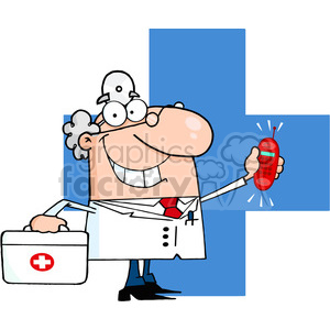 doctor-on-call clipart. Royalty-free image # 384222
