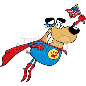 super-dog-usa clipart. Royalty-free image # 384227