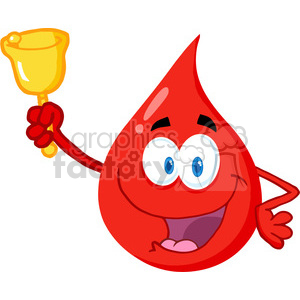 blood-drop-holding-bell clipart. Commercial use image # 384232
