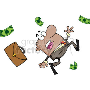 money-run clipart. Royalty-free image # 384237