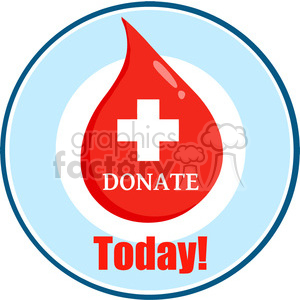 donate-blood-today clipart. Royalty-free image # 384252