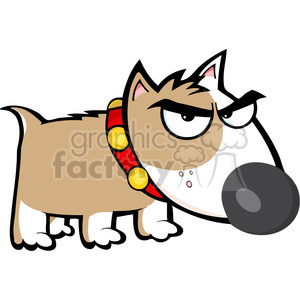cartoon-angry-puppy clipart. Royalty-free image # 384272