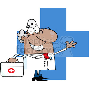 cartoon-doctor clipart. Royalty-free image # 384282