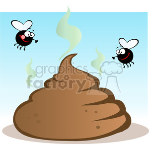 cartoon funny vector comic comical poo poop fly flies