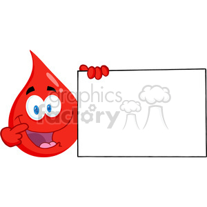 blood-drop-with-large-blank-sign clipart. Royalty-free image # 384340