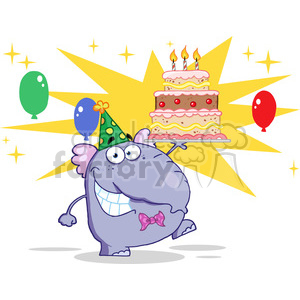 cartoon-elephant clipart. Royalty-free image # 384345