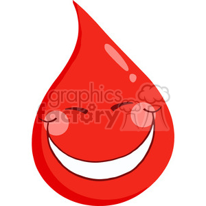 happy-blood-character clipart. Commercial use image # 384350