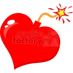 love-bomb-exploding-heart clipart. Royalty-free image # 384360