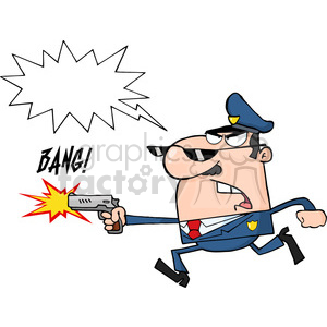 cartoon-police clipart. Commercial use image # 384370