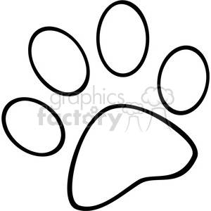 Royalty-Free-RF-Copyright-Safe-Outlined-Paw-Print clipart. Royalty-free image # 384395