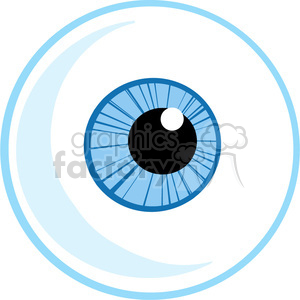 4657-Royalty-Free-RF-Copyright-Safe-Blue-Eye-Ball clipart. Royalty-free image # 384420
