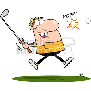 4698-Royalty-Free-RF-Copyright-Safe-Male-Golfer-Hitting-Golf-Ball clipart. Royalty-free image # 384430