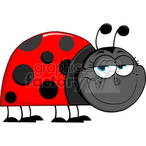 Royalty-Free-RF-Copyright-Safe-Happy-Ladybug-Cartoon-Character clipart. Royalty-free image # 384445