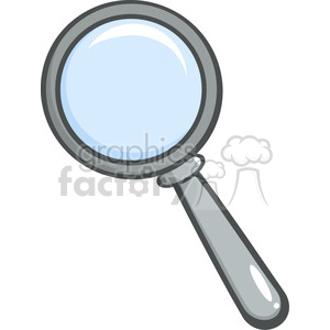 Royalty-Free-RF-Copyright-Safe-Gray-Magnifying-Glass clipart. Royalty-free image # 384505