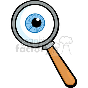 Royalty-Free RF Copyright Safe Magnifying Glass With Eyeball clipart. Commercial use image # 384510