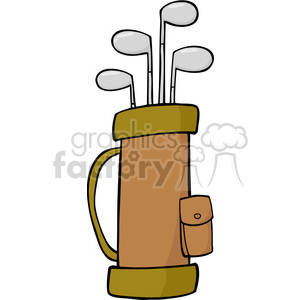 4702-Royalty-Free-RF-Copyright-Safe-Golf-Bag clipart. Royalty-free image # 384525