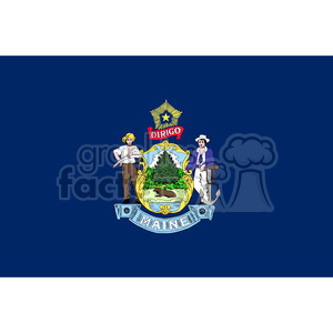 vector state Flag of Maine clipart. Commercial use image # 384549