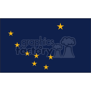 vector-state-Flag-of-Alaska clipart. Royalty-free image # 384554