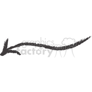 left-sketched-arrow clipart. Royalty-free image # 384559